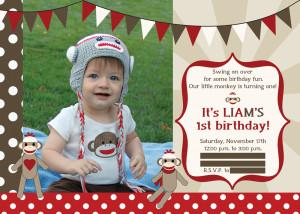 Sock Monkey Birthday Party - The Redhead Baker