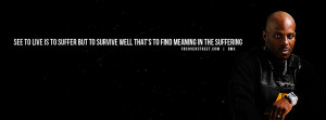DMX To Live Is To Suffer Quote Wallpaper