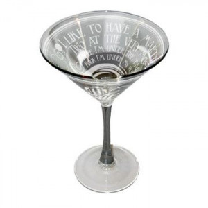 Dorothy Parker Martini now featured on Fab.