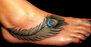 In this case, people who wear the peacock feather tattoo may be very ...