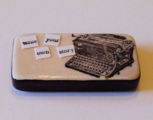 Typewriter Domino Magnet Quote Write Your Own by AmySueCrafts, $3.50