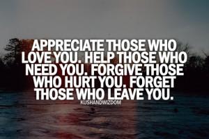 love it appreciate those who love you