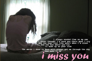 miss you*