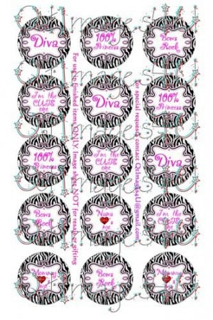 ... Pink Sayings. Great for any zebra party. Perfect for bottle cap hair