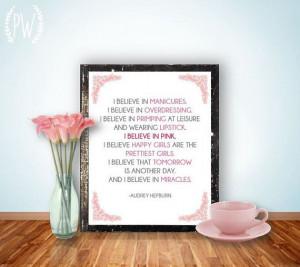 Audrey Hepburn Quote Printable, Print Poster art, wall decor ...
