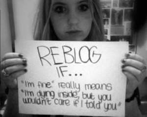 quote depressed depression sad suicide photo hurt cutting cuts self ...