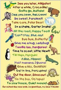 super cute saying that rhyme | maybe need to try a new goodbye poem ...