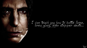 Harry Potter Wallpaper : Snape Quote! by TheLadyAvatar