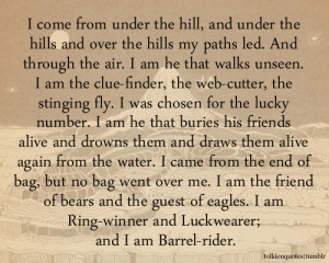 ... am the friend of bears and the guest of eagles. I am Ring-winner and
