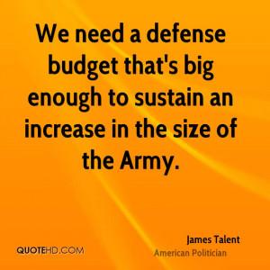 James Talent Quotes