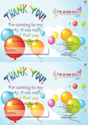 Thank You Quotes For Birthday Party Thank you for coming to my