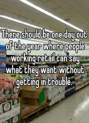 Retail day!