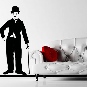 Details about CHARLIE CHAPLIN WITH CANE QUOTE WALL ART STICKER, WALL ...