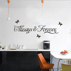 ... Forever-Butterfly-Wall-Quote-Sticker-Decals-Removable-Art-Decor-Vinyl