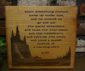 Something Tookish, The Hobbit, Tolkien Quote, Laser Engraved Plaque