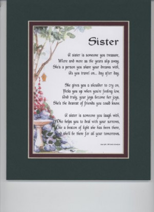 ... Enhanced With Watercolor Graphics. A Sentimental Gift For A Sister