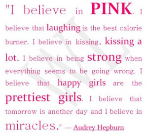 pretty in pink and