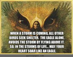 don't necessarily like the quote but the eagle/native american ...