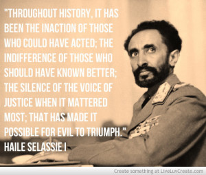 Haile Selassie I Quote