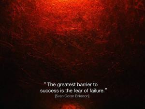 Overcome fear of failure quote