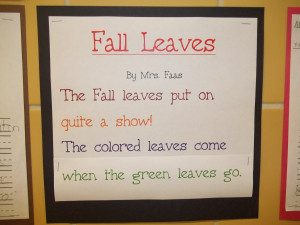 Fall leaves poem Autumn Season Poems