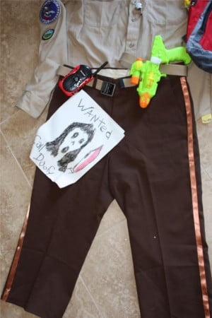 ... MENS SPECIAL OFFICER DOOFY SCARY MOVIE HALLOWEEN HOMEMADE COSTUME SZ M