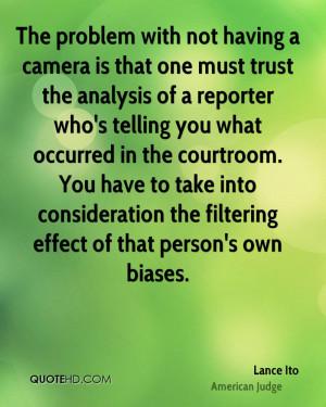Lance Ito Trust Quotes