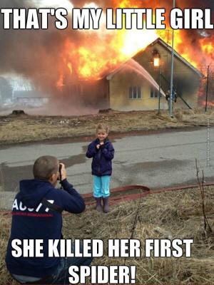 funny pics girl killed her first spider