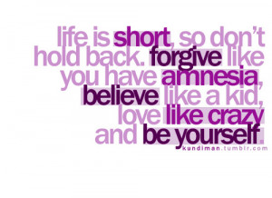 Love Like Crazy & Be Yourself | SayingImages.com