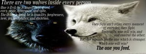 there are two wolves inside every person wolf timeline cover quotes ...