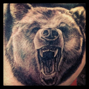 Very Angry Bear Tattoo Picture