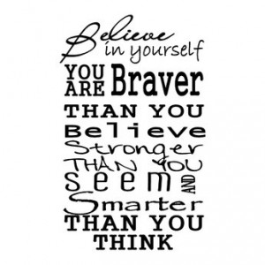 Believe In Yourself - Wall Decal