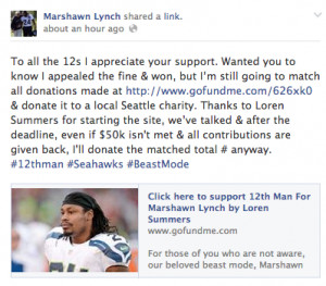 Did Marshawn Lynch win his appeal or not?