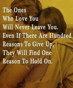 ... we both always hold on which means its worth fighting for! Love love
