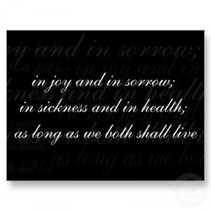 in sickness and in health quotes