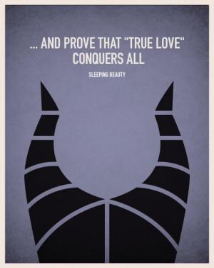 Minimalistic Disney Villain Movie Posters