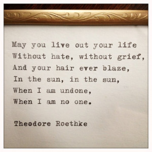 Theodore Roethke Typewriter Quote by farmnflea on Etsy, $14.00