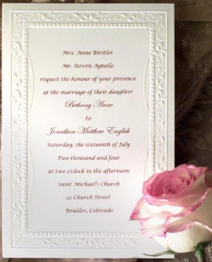 ... images gallery related to Romantic Casual Wedding Invitation Wording