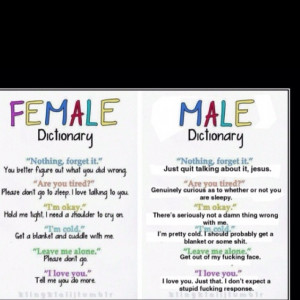 Women vs. Men conversation style. Though not entirely accurate, we do ...