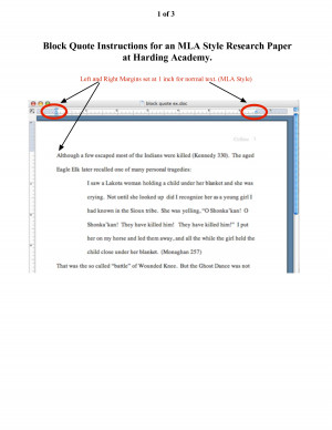 How To Block Quote In An Mla Paper