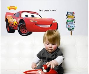 Details about CARS 2 BiG LIGHTNING MCQUEEN Quote Wall Sticker Decals ...