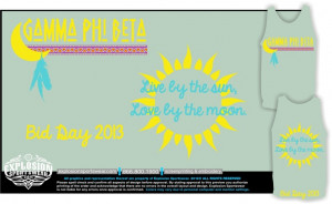 ... bid day tank top for Gamma Phi Beta! Love this design and the quote