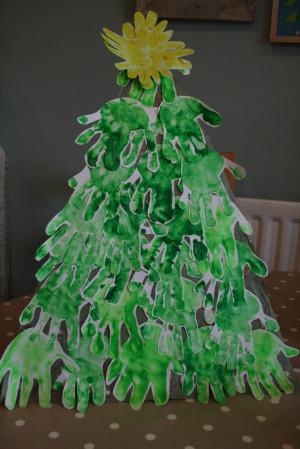 Handprint Christmas Tree. Baby Handprint Quotes. View Original ...