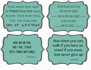 Running Inspiration Printables