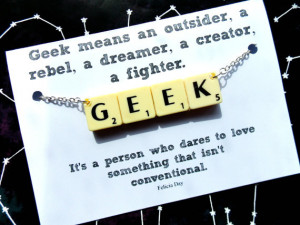 Geek Scrabble Necklace With Felicia Day Quote