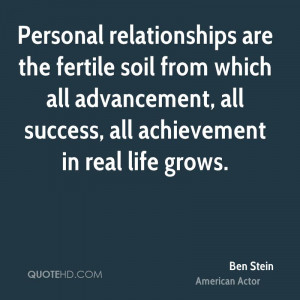 ben-stein-ben-stein-personal-relationships-are-the-fertile-soil-from ...