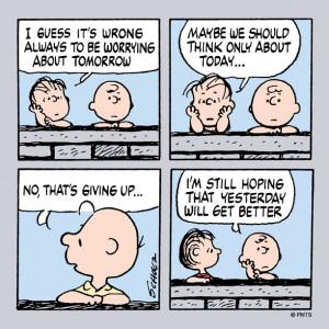 Charlie Brown and Linus on optimism: Happy Ischar, Cartoon, Peanut ...