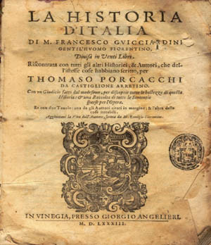 Cover of an old edition of Storia d'Italia