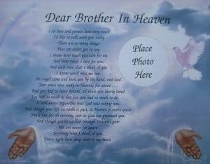Brother in Heaven Memorial Verse Poem: Dear Brother, Happy Birthday ...