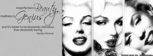 marilyn monroe quote facebook cover